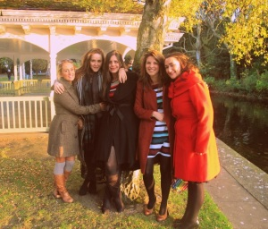 From left: Marissa, Maud, Sarah and Una at Maud's engagment party - a very special photo