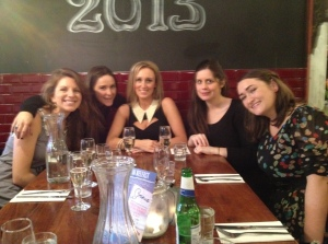 From left: Una, Maud, Marissa, Sarah and Aoife at Marissa's 30th